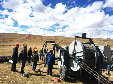 Tensioner applicated in Tibet Region with the altitude about 4600 meters